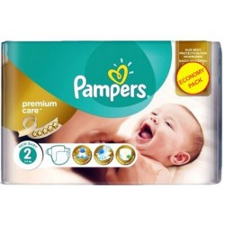 Pack 22 Couches Pampers New Baby Premium Care taille 2 sur Couches Zone
