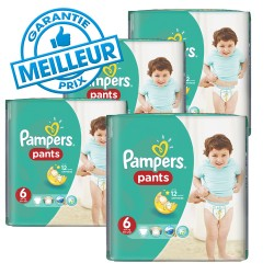 Pack 42 Couches Pampers Baby Dry Pants taille 6 sur Couches Zone