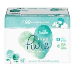192 Lingettes Bébés Pampers Aqua Pure sur Couches Zone