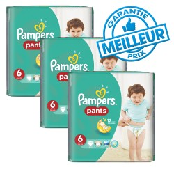 Pack 98 Couches Pampers Baby Dry Pants taille 6 sur Couches Zone