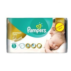 22 Couches Pampers New Baby Premium Care taille 1 sur Couches Zone