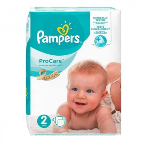 36 Couches Pampers ProCare Premium protection taille 2 sur Couches Zone