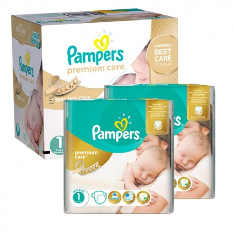 242 Couches Pampers New Baby Premium Care taille 1 sur Couches Zone