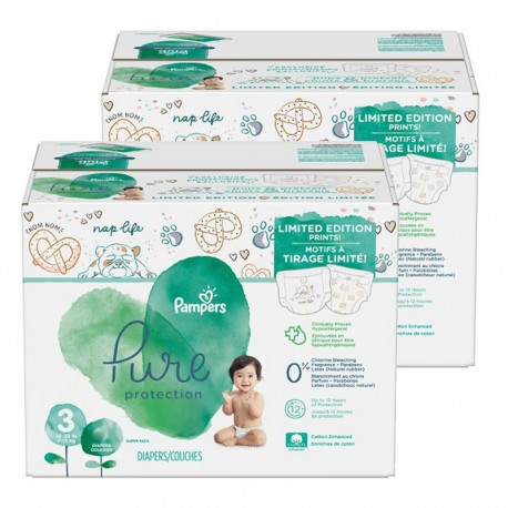 Pack 66 Couches Pampers Pure Protection taille 3 sur Couches Zone