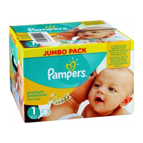 Giga pack 216 Couches Pampers New Baby Premium Protection taille 1 sur Couches Zone