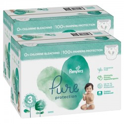Mega pack 132 Couches Pampers Pure Protection taille 3 sur Couches Zone