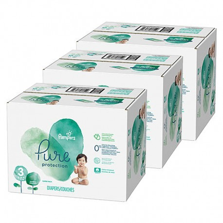 Mega pack 176 Couches Pampers Pure Protection taille 3 sur Couches Zone