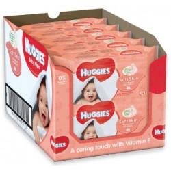 Pack jumeaux 784 Lingettes Bébés Huggies Soft Skin sur Couches Zone