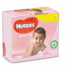 Pack jumeaux 1120 Lingettes Bébés Huggies Soft Skin sur Couches Zone