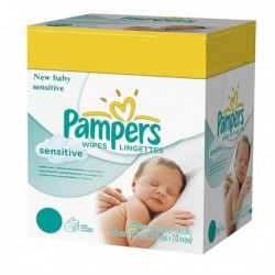 Mega pack 168 Lingettes Bébés Pampers New Baby Sensitive sur Couches Zone