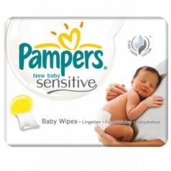 Pack jumeaux 840 Lingettes Bébés Pampers New Baby Sensitive sur Couches Zone