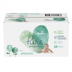 Pack 70 Couches Pampers Pure Protection taille 1 sur Couches Zone