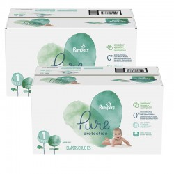 Mega pack 175 Couches Pampers Pure Protection taille 1 sur Couches Zone
