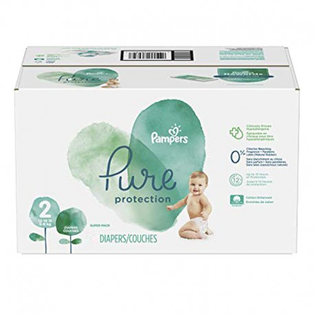 Pack 54 Couches Pampers Pure Protection taille 2 sur Couches Zone