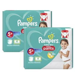 Mega pack 136 Couches Pampers Baby Dry Pants taille 5+ sur Couches Zone