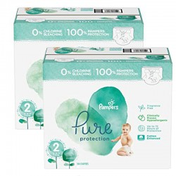 Mega pack 162 Couches Pampers Pure Protection taille 2