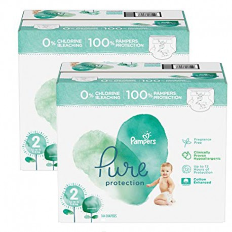 Mega pack 162 Couches Pampers Pure Protection taille 2 sur Couches Zone
