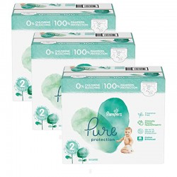 Mega pack 189 Couches Pampers Pure Protection taille 2 sur Couches Zone