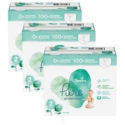 Giga pack 216 Couches Pampers Pure Protection taille 2
