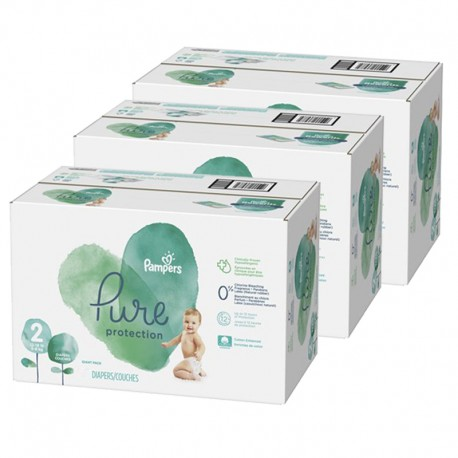 Giga pack 270 Couches Pampers Pure Protection taille 2 sur Couches Zone