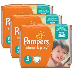 Maxi mega pack 406 Couches Pampers Sleep & Play taille 6 sur Couches Zone