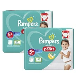 Giga pack 238 Couches Pampers Baby Dry Pants taille 5+ sur Couches Zone