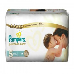 Pack 30 Couches Pampers Premium Care taille 5 sur Couches Zone