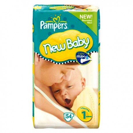 Pack 56 Couches Pampers New Baby Premium Protection taille 1 sur Couches Zone