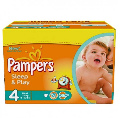 Mega pack 150 Couches Pampers Sleep & Play taille 4 sur Couches Zone