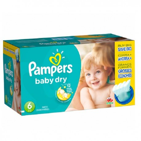 Baby Dry - Maxi Pack de 124 Couches Pampers taille 6 sur Couches Zone