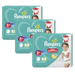 Mega pack 144 Couches Pampers Baby Dry Pants taille 5+ sur Couches Zone