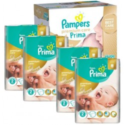 Pack 44 Couches Pampers New Baby Premium Care taille 2 sur Couches Zone