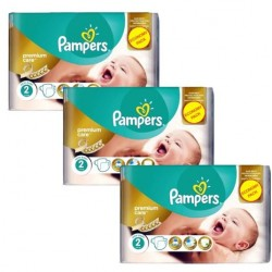 Pack 88 Couches Pampers New Baby Premium Care taille 2 sur Couches Zone