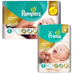 110 Couches Pampers New Baby Premium Care taille 2 sur Couches Zone