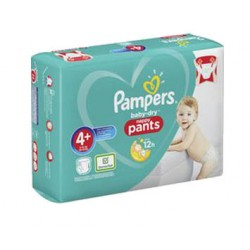 Pack 35 Couches Pampers Baby Dry Pants taille 4+ sur Couches Zone