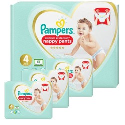 Pack 57 Couches Pampers Premium Protection Pants taille 4 sur Couches Zone
