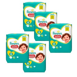 Pack 74 Couches Pampers Premium Protection Pants taille 6 sur Couches Zone