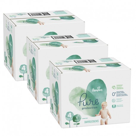 Mega pack 152 Couches Pampers Pure Protection taille 4 sur Couches Zone