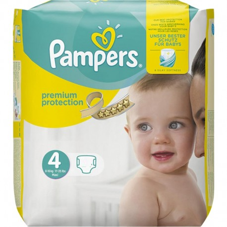 Pack 96 Couches Pampers New Baby Premium Protection taille 4 sur Couches Zone