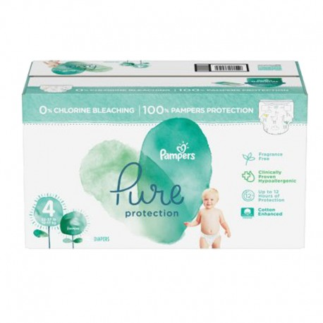 Giga pack 228 Couches Pampers Pure Protection taille 4 sur Couches Zone