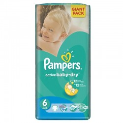 24 Couches Pampers Active Baby Dry taille 6 sur Couches Zone