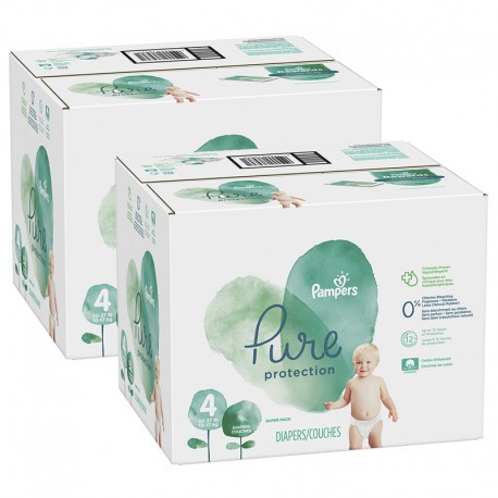 Maxi mega pack 475 Couches Pampers Pure Protection taille 4 sur Couches Zone