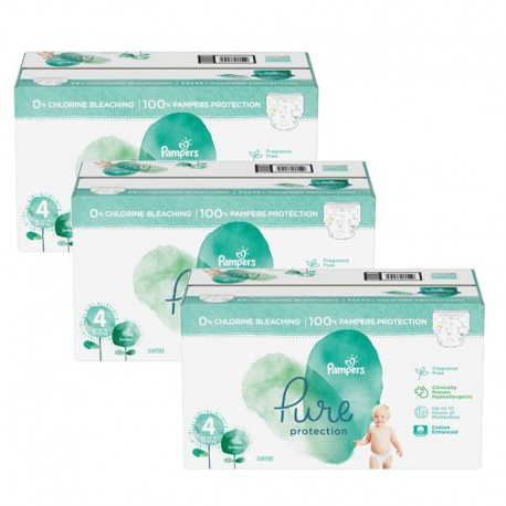 Pack jumeaux 570 Couches Pampers Pure Protection taille 4 sur Couches Zone