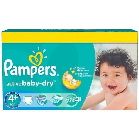Giga pack 240 Couches Pampers Active Baby Dry taille 4+ sur Couches Zone