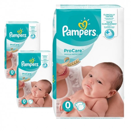Mega pack 190 Couches Pampers ProCare Premium protection taille 0 sur Couches Zone