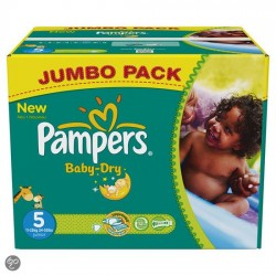 Pack 46 Couches Pampers Baby Dry taille 5 sur Couches Zone