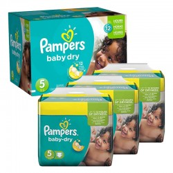 Pack 69 Couches Pampers Baby Dry taille 5 sur Couches Zone