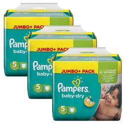 Mega pack 161 Couches Pampers Baby Dry taille 5 sur Couches Zone