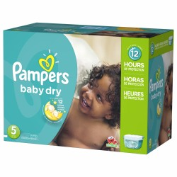 Mega pack 184 Couches Pampers Baby Dry taille 5 sur Couches Zone