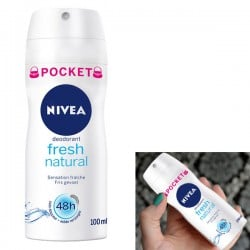Fresh Natural - Deodorant Nivea taille Pocket sur Couches Zone